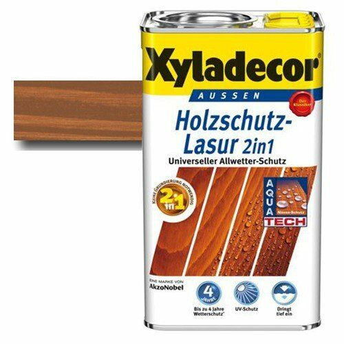 Xyladecor® Holzschutz-Lasur 2 in 1 Kastanie 0,75 l