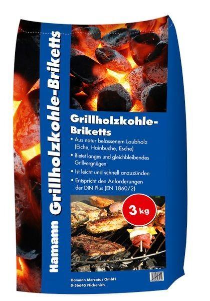 Hamann Grillholzkohle-Briketts 3 kg