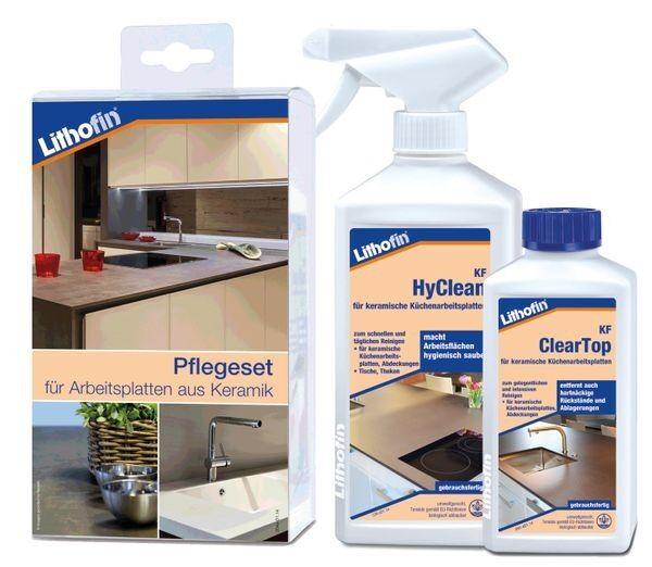 Lithofin® Pflegeset -compact- für Arbeitsplatten aus Keramik 750 ml