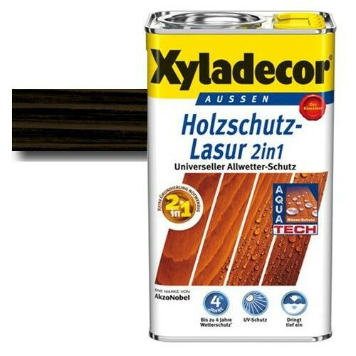 Xyladecor® Holzschutz-Lasur 2 in 1 Ebenholz 5 l