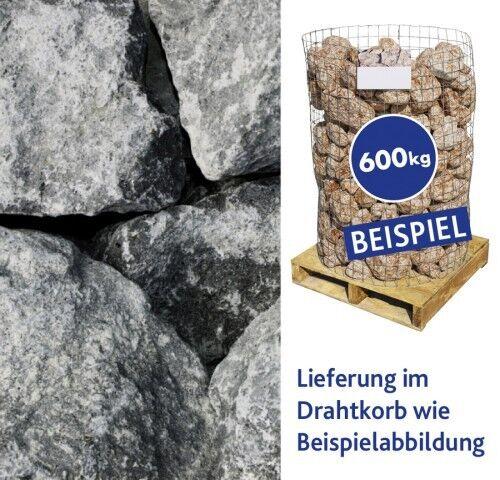 Basaltbrocken Eifelschwarz 100-300mm 600kg Drahtkorb