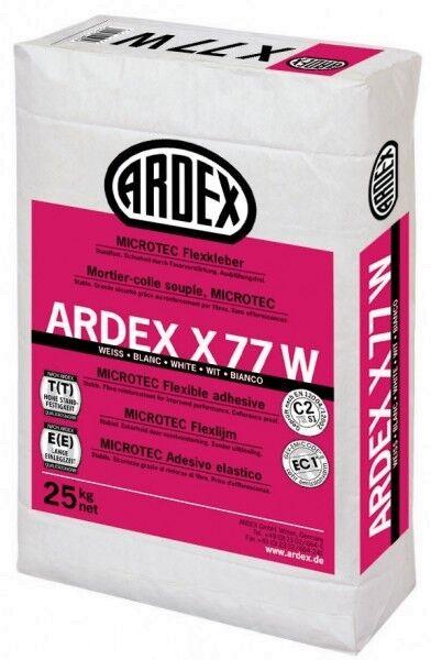 Ardex X77W MICROTEC Flexkleber weiss 25kg