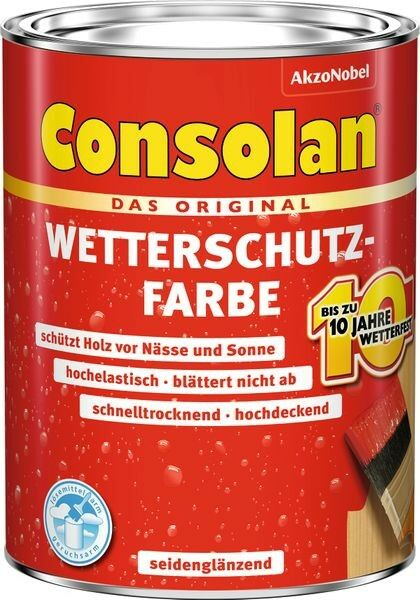 CONSOLAN RC Wetterschutzfarbe Schwedenrot 2,5l