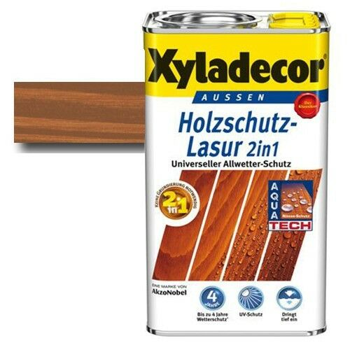 Xyladecor® Holzschutz-Lasur 2 in 1 Kastanie 2,5 l