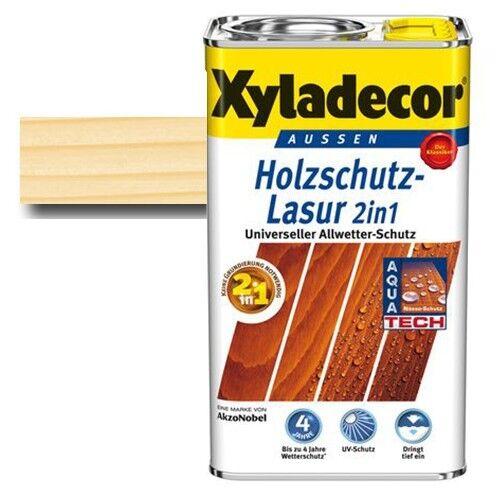 Xyladecor® Holzschutz-Lasur 2 in 1 Farblos 5 l