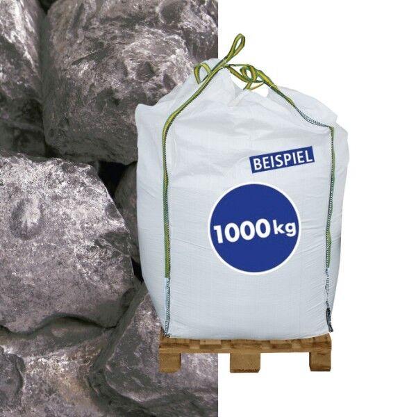 1000kg BigBag Gabionen Steine Marmorkies Nero Ebano 70-120 mm