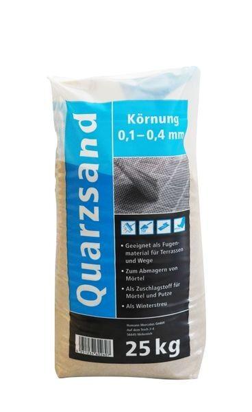 Quarzsand feuergetrocknet 25 kg
