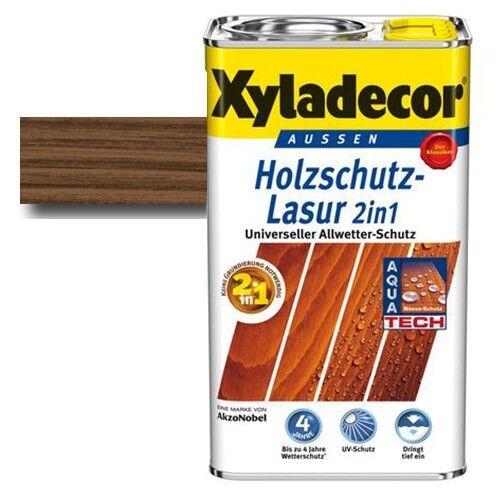 Xyladecor® Holzschutz-Lasur 2 in 1 Nussbaum 2,5 l