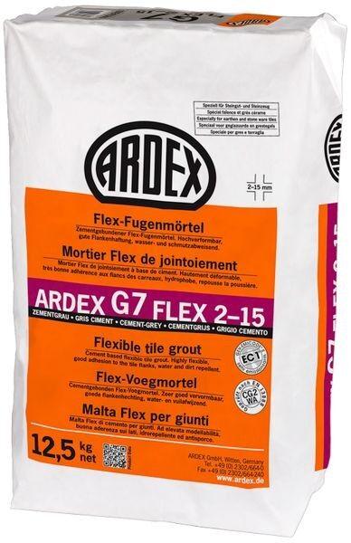 ARDEX G7 FLEX 2-15 Flex-Fugenmörtel 12,5 kg - zementgrau