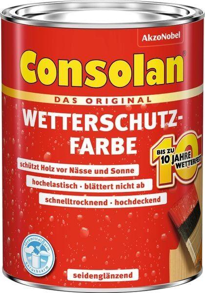 CONSOLAN RC Wetterschutzfarbe Dunkelbraun 2,5l