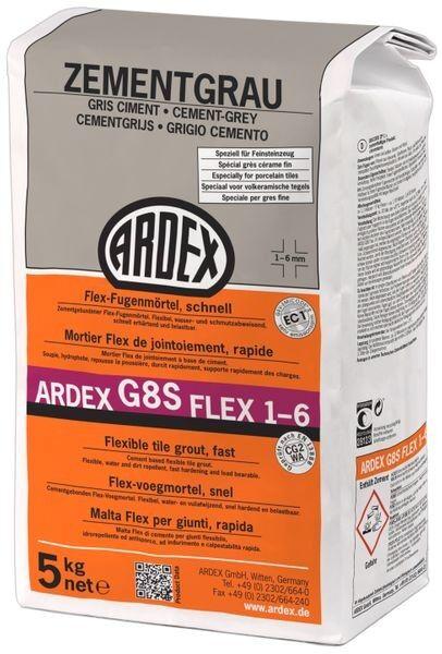 ARDEX G8S FLEX-Fugenmörtel 1-6 - 5 kg zementgrau