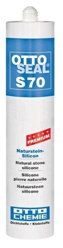 OTTOSEAL® S70 Premium-Naturstein-Silikon/Silicon 310 ml - Matt-Sanitärgrau C6111