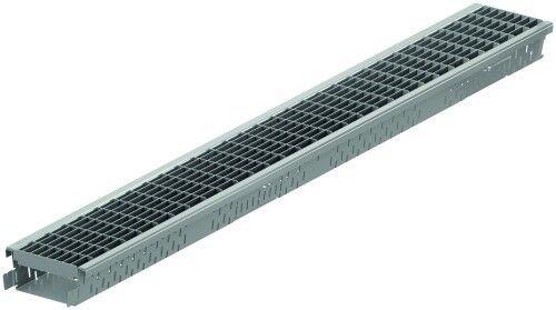 ACO Self® Highline 1m Stahl verzinkt + Maschenrost Stahl verzinkt 1m