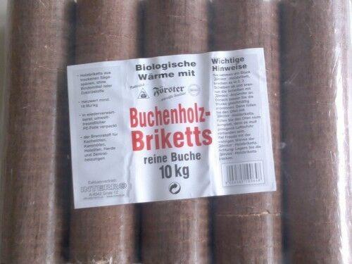 10kg Holzbriketts Buchenholzbriketts Rund Buche Briketts Holz