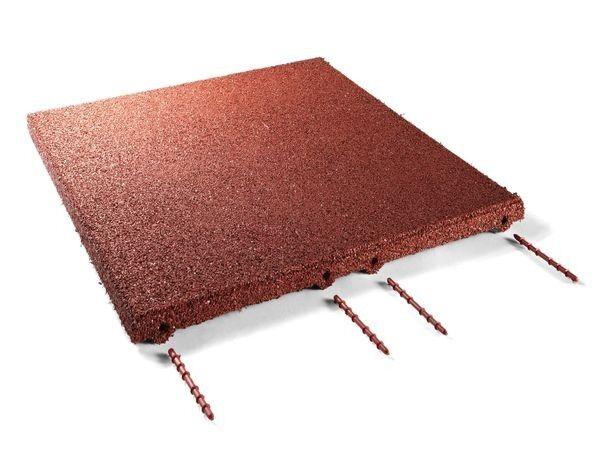 Fallschutzmatten Rot 50x50x3cm inkl. Verbinder