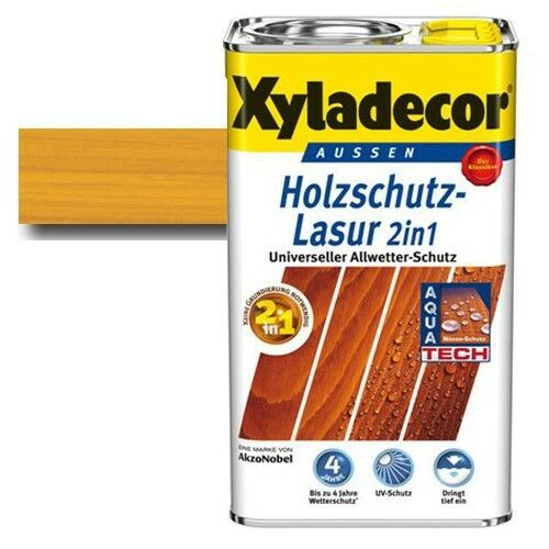 Xyladecor® Holzschutz-Lasur 2 in 1 Eiche hell 5 l