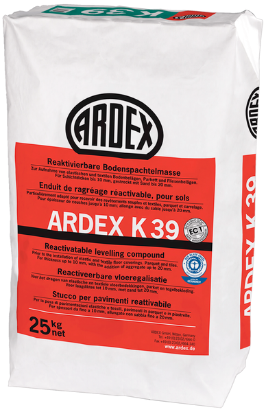 ARDEX K39 Reaktivierbare Bodenspachtelmasse 25 kg