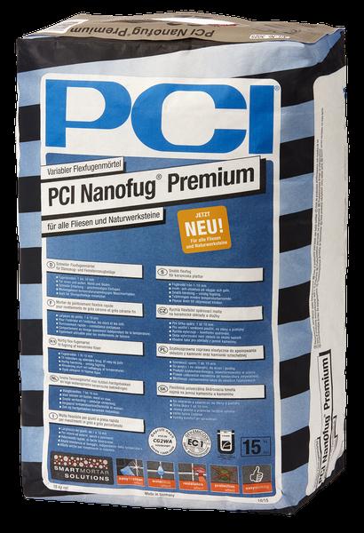 PCI Nanofug® Premium Variabler Flexfugenmörtel 15 kg - Nr. 22 Sandgrau