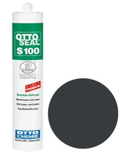 OTTOSEAL® S100 Premium-Sanitär-Silikon/Silicon 300 ml - Asphaltgrau C808