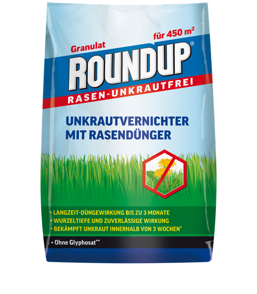 ROUNDUP® Rasen-Unkrautfrei Unkrautvernichter mit Rasendünger 9 kg