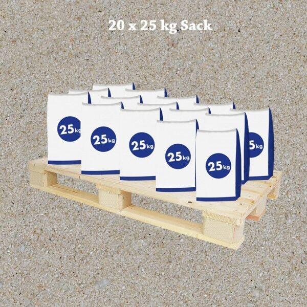 Quarzsand wäschefeucht 0,1-0,5 mm 45x25 kg Sack