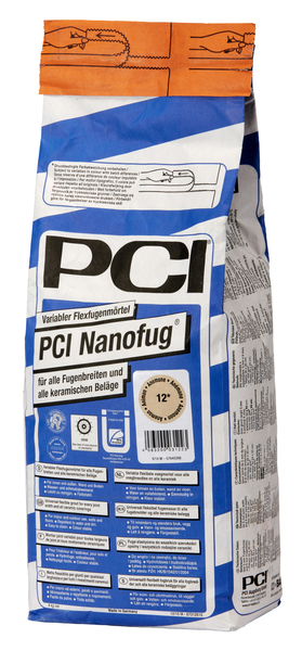 PCI Nanofug® Variabler Flexfugenmörtel 4 kg - 16 Silbergrau