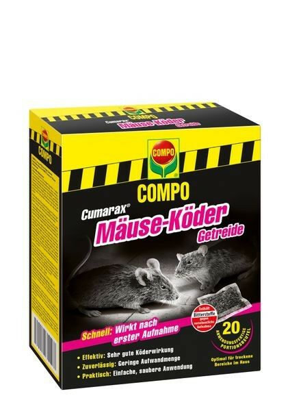 COMPO Cumarax® Mäuse-Köder Getreide 200 g