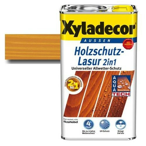 Xyladecor® Holzschutz-Lasur 2 in 1 Palisander 2,5 l