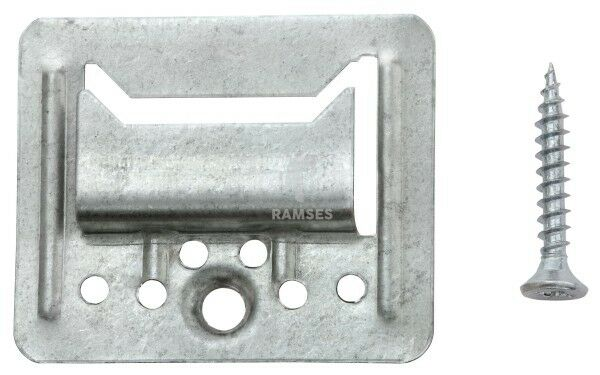 KIESUNDCO Profilholzkrallen inklusive Schrauben 4 mm Stahl verzinkt 100 Stück
