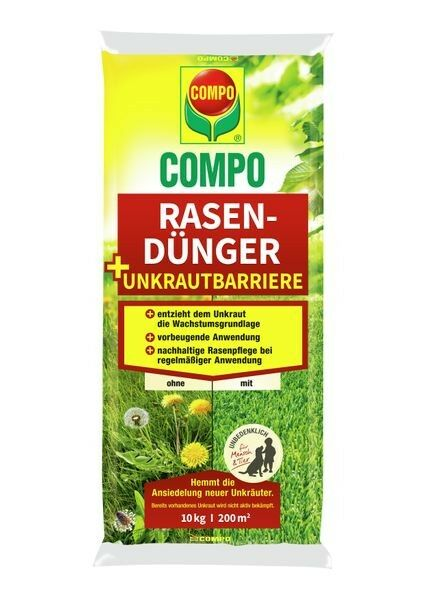COMPO Rasendünger + Unkrautbarriere 10 kg