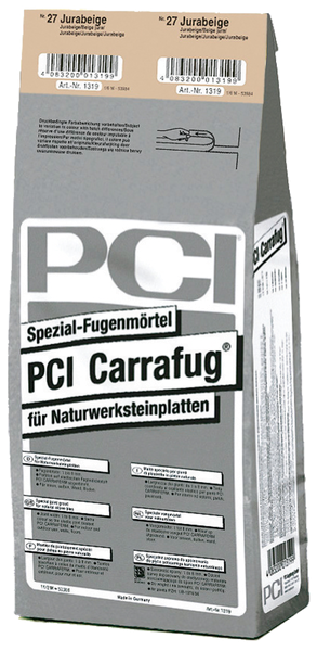 PCI Carrafug® Spezial-Fugenmörtel 5 kg - Nr. 27 Jurabeige