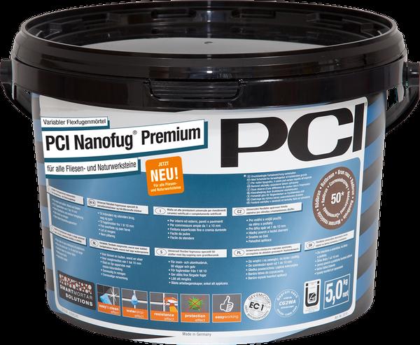 PCI NANOFUG PREMIUM Flexfugenmörtel Anthrazit 5 kg Eimer Fliesen Fugenmörtel