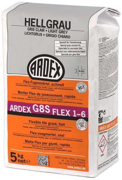 ARDEX G8S FLEX-Fugenmörtel 1-6 - 5 kg hellgrau